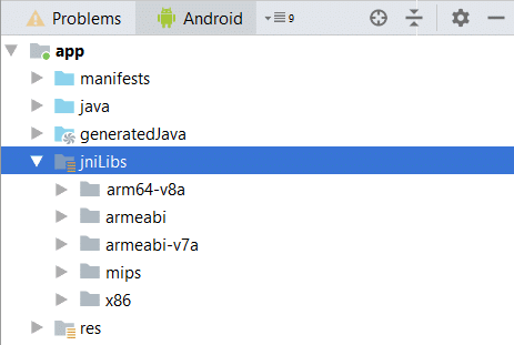 Android Library jniLibs expanded folder