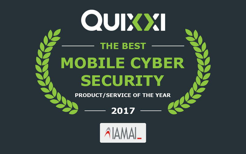 Quixxi - The best Mobile Cyber Security IAMAI 2017